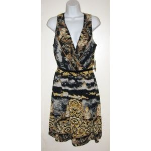 Emma & Michelle Sleeveless Chiffon Dress 14 NWT